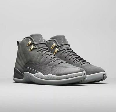 Air Jordan Retro 12 XII GS GRADE SCHOOL WOLF GREY 4.5Y-7Y