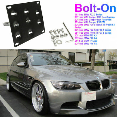 Bumper Tow Hook License Plate Mounting Bracket For BMW F30 F32 F10 3 4 5 Series