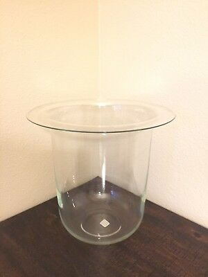 just Glass PARTYLITE Seville 3-Wick Glass CANDLE HOLDER