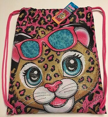 Girls Justice Cheetah Beach Towel With Tote  Bag New NWT