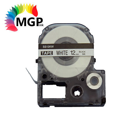 20X LC-4WBN Standard LC Tape 12mm Black on White 8m for Epson LW-300 LW-400