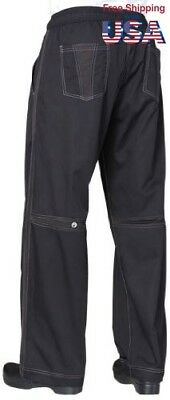 Chef Works Mens Cool Vent Baggy Chef Pant (CVBP) Black L