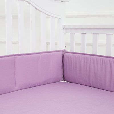 Baby Breathable Crib Bumper Pads 4 Piece/Lilac