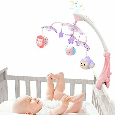 Musical Baby Crib Mobile with Star Projector Nursery 30 MelodiesPink