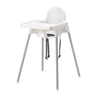 NEW Ikea's ANTILOP Highchair with safety belt white silver color and SHIPS FREE