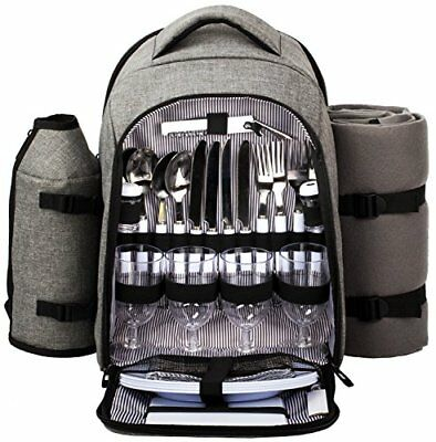Waterproof Picnic Backpack for 4 Person With Cutlery Set Cooler