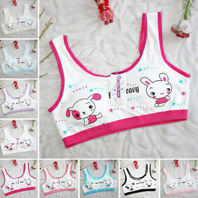 Cute Bra No Rims Sport Hot New Kids Puberty Children Underpants Printing Girls