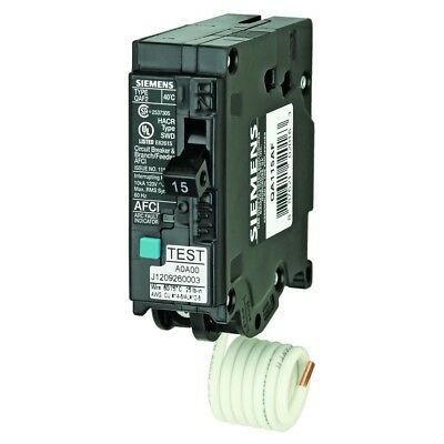 15 Amp Single Pole 120volt Plug On Type Branch Feeder Style AFCI Circuit Breaker