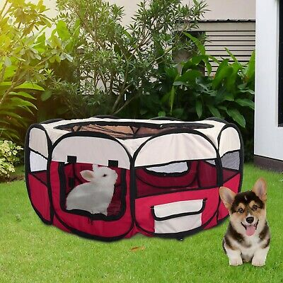 New Foldable Pet Exercise Kennel Soft Fabric Dog Run Puppy Cat Playpen Cage