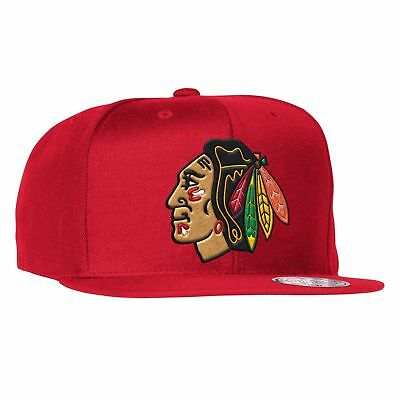 Mitchell & Ness Men's The Chicago Blackhawks Wool Solid Snapback Cap