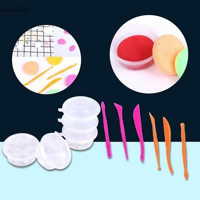New Plastic Slime Plasticine Choi Clay Tools and Round Storage Box S5DY