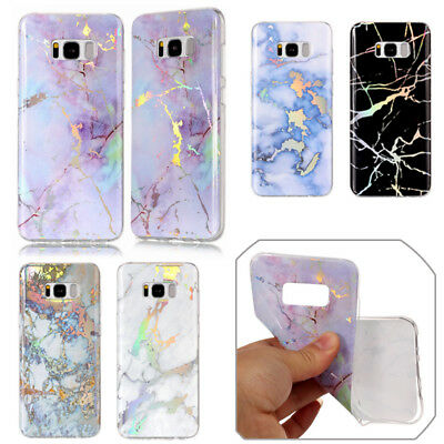 Plating Marble Pattern Silicone TPU Soft Case Cover For Samsung Galaxy S8 S6 S7
