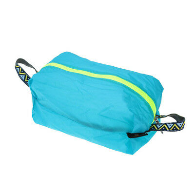 Waterproof Laundry Shoe Travel Pouch Storage Zipper Tote Organizer M Blue