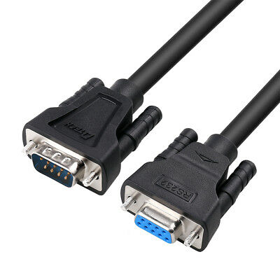 DTECH 15ft Serial Male to Female Cable RS232 Extension 9 Pin Straight Through