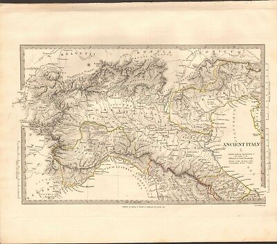 1832 Antique Map- Sduk - Ancient Italy I, North