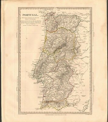 1831 Antique Map- Sduk - Portugal