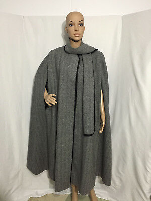 """Alorna"" Womens US Union Made Vintage Wool Blend Fully Lined Cape One Size MINT!"