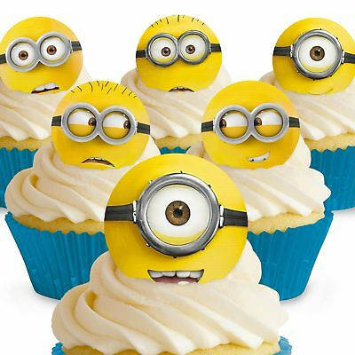 Cakeshop 12 x PRE-CUT Despicable Me Minions Edible Cake Toppers