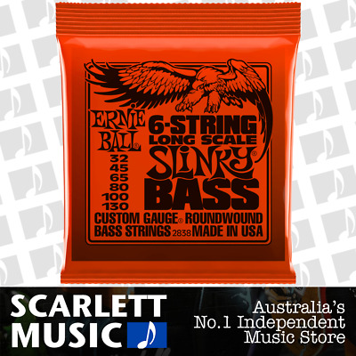 Ernie Ball 2838 Roundwound 6 String Slinky Bass Strings Long Scale 32-130