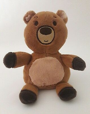 BABIES R US baby infant flat face Brown TEDDY BEAR plush Stuffed Animal 12""