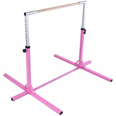 GymnTrax Adjustable Horizontal Bar Gymnastics Junior Kip Bar Home Gym Training