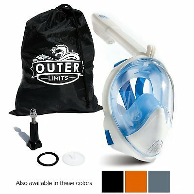 Outer Limits Full Face Snorkel Mask -GoPro Compatible- 180 Panoramic View - 973