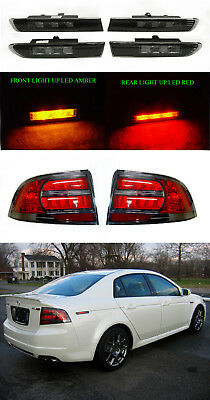Depo Type S Smoke Led Side Marker Tail Light Set For 04 05 06