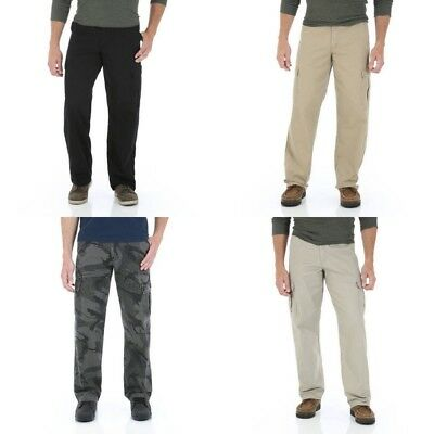 New Wrangler Men/'s Relaxed Fit Cargo Pant with Stretch All Sizes