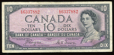 1954 Bank of Canada $10 - Devil's Face Note E/D6337882