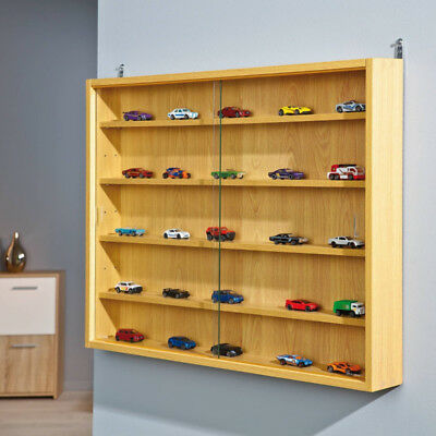 Model Car Wall Mounted Hanging Display Cabinet Collectable Trains Shelf Storage
