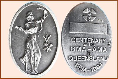 1994 Centenary of the BMA-AMA in Queensland Large Heavy white-Metal Medal