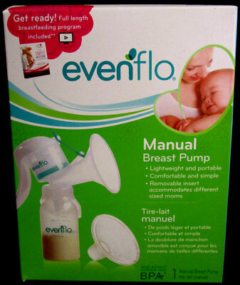 Evenflo Manual Breast Pump MemoryFlex system, easy to clean!