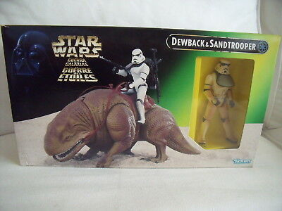 Dewback Sandtrooper OVP boxed 1997 Kenner Hasbro Star Wars Power of the Force 2