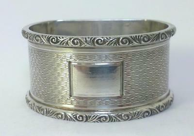Vintage hallmarked Sterling Silver Napkin Ring (30g) – 1957  (Not Inscribed)