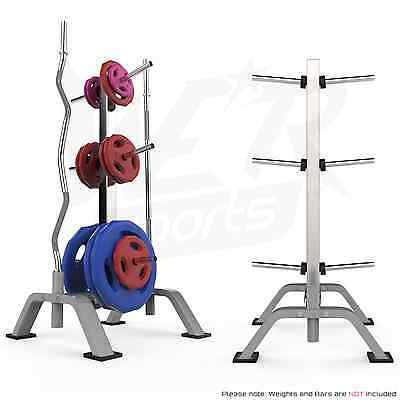 "Weight Plate Disc Rack & Barbell Bar Tree Storage Stand - Standard 1"" (25mm)"