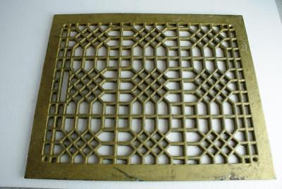Cast Iron Victorian Heater Grate For Wall Or Floor Excellent Condition Orig