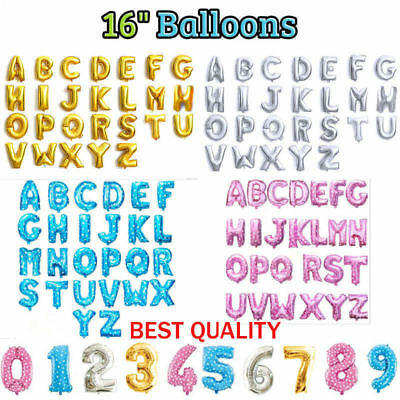 Self inflating 16'' INCH Foil Number & Letters BALLOONS Happy birthday ballons