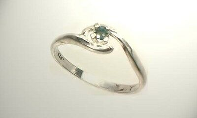 19th Century Antique Gemstone Blue Sapphire Sterling Silver Ring