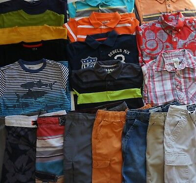 Boys Size 8 Summer Clothes Lot of 20 Items L1-17