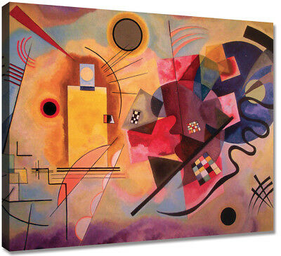 Quadri Moderni Cm 120x90 Stampa Tela Canvas Quadro Moderno kandinsky yellow red