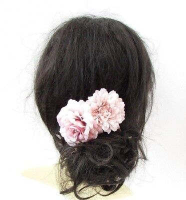 Blush Pink Rose Gold Peony Rose Flower Hair Comb Bridesmaid Fascinator 5361