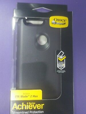 New Otterbox Achiever Case For Zte Blade Zmax Black Drop Protection