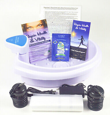 Ionic Detox Foot Bath Spa Cleanse Chi Unit for Home Use. Comes with Free Extras!