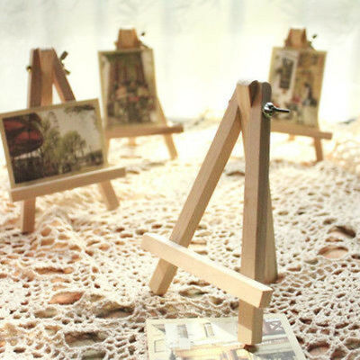 10pz MINI CAVALLETTO IN LEGNO STAND OPERA D'ARTE PITTURA TAVOL DISPLAY FOTO