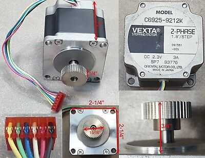 Vexta Stepping Motor C6925-9212K, 2-PHASE 1.80/Step, 2.3V DC, 3A, SP7 93776