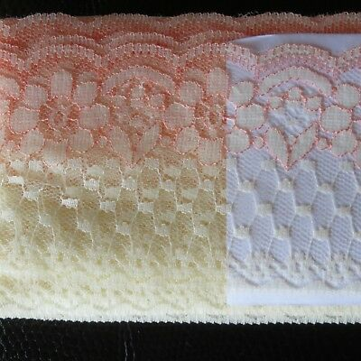 BULK LACE Apricot /Cream 10 m x 7cm , Scrapbook, Cards, Sewing ,dress.lingeria