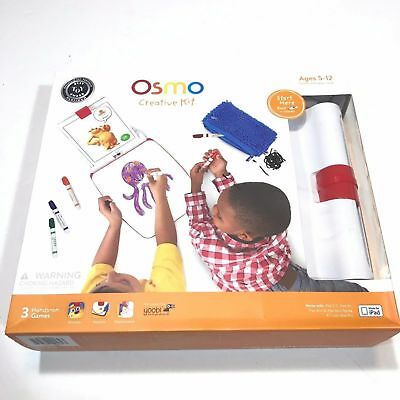 NEW OSMO Creative Kit Set with Monster, Newton, Masterpiece Games BASE INCLUDED