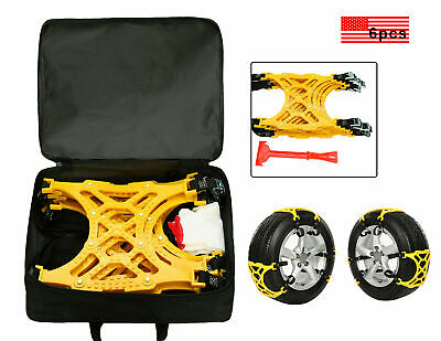 6PC Thick Tendon Emergency Thickening Tire Chains Snow Anti-skid of Car SUV