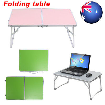 Folding Laptop Table Adjustable Portable Camping Computer Reading Desk Bed Tray