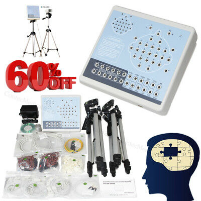 Brain Electric Activity EEG Machine And Mapping System 24 channel+2 Tripods+SW